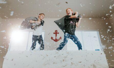Porucha pozornosti s hyperaktivitou u dvou chlapců.